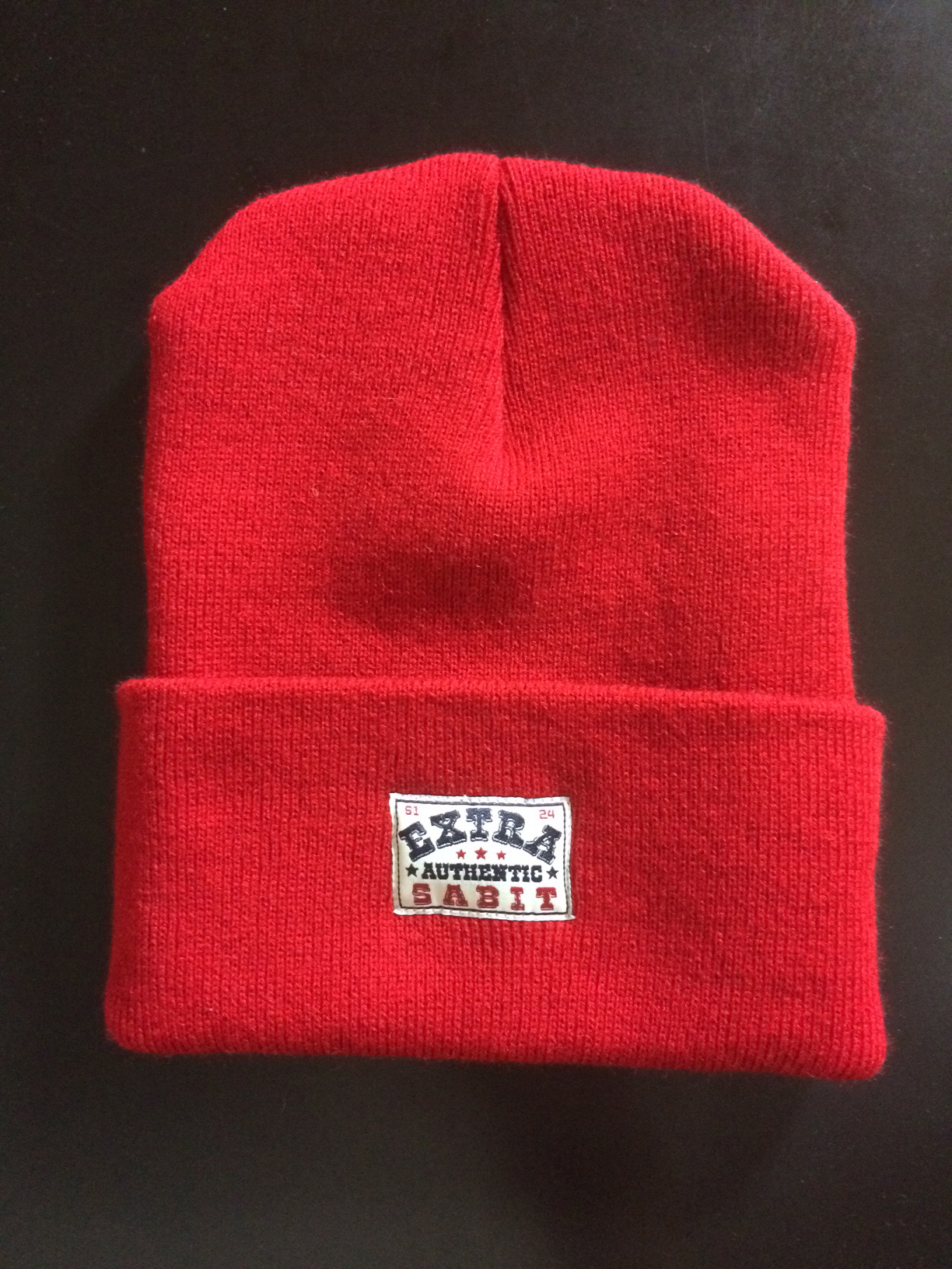 """""""EXTRA AUTHENTIC RED"""" BEANIE"""